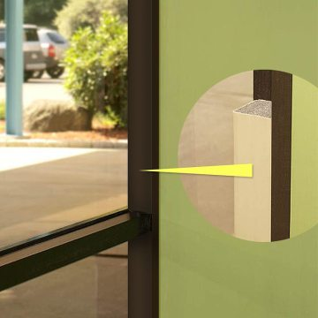 QuietJoint acoustic wall joint seal wall to window partition closure EMSEAL