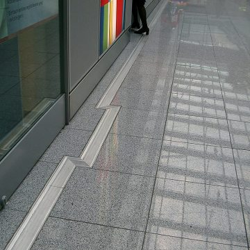 GDR airport floor expansion joints Dusseldorf airport Migutrans FS 110 offices Migua EMSEAL