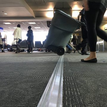 Rolling point loads come in many forms. What is true for all of them is stress on floor expansion joint covers. Migutrans FS 75 is designed for these stresses.