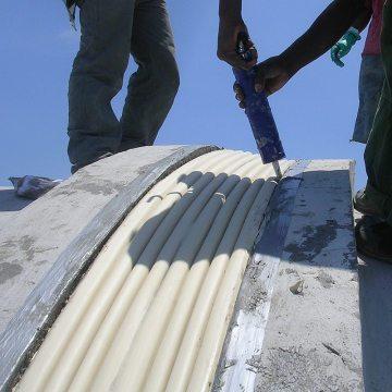 COH Horizontal Colorseal curved concrete Jamaica EMSEAL