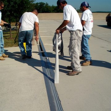 DSM SYSTEM Installation into Concrete Expansion Joints removing duct tape
