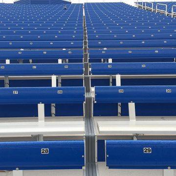 EMSEAL's DSM System installed in metal bleachers at SDSU Stadium.