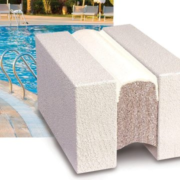 Swimming pool expansion joints sealed with Submerseal from EMSEAL
