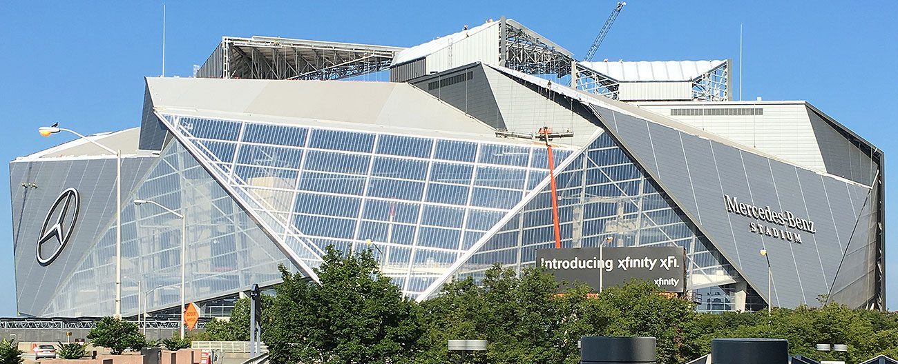 EMSEAL stadium expansion joints used at Atlanta Falcons Mercedes Benz