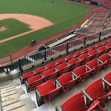 Busch Stadium expansion joints. SJS by Emseal with coverplate and seats.