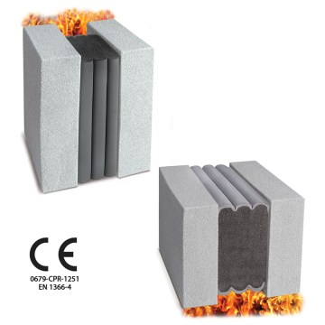 Fire Rated CE Movement Joint for floors and walls in buildlings. Emshield DFR WFR CE from Emseal