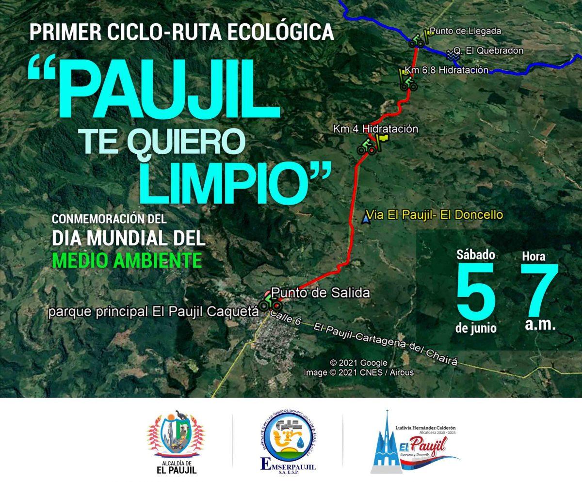ciclo ruta en el Paujil Caquetá Colombia