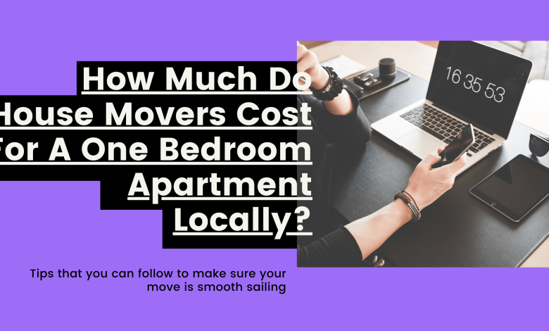 How Much Do Movers Cost For A One Bedroom Apartment Locally