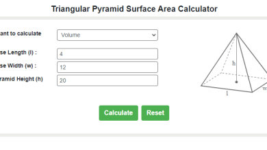 Photo of Free Online Surface Area of a Triangular Pyramid Calculator