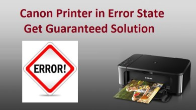 Photo of Solution of Canon Printer in Error State.