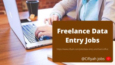 Freelance Data Entry Jobs -Cifiyah.com