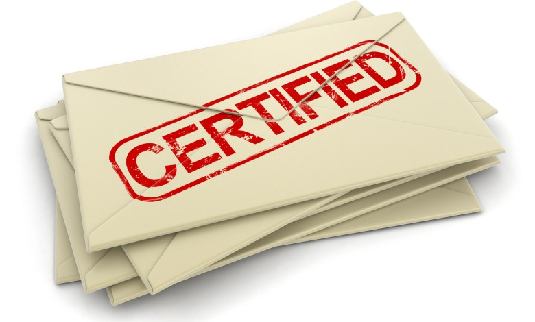 certified mail versus registered mail