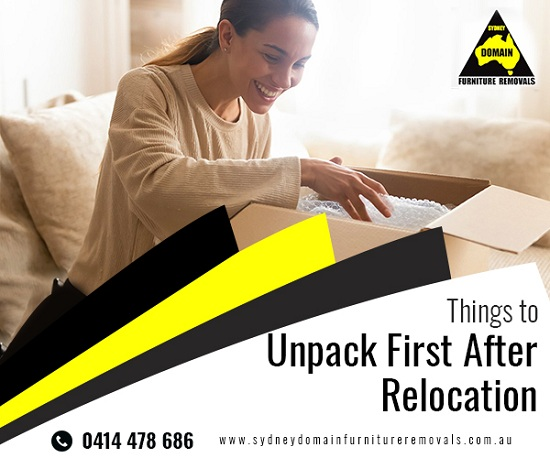 Things to Unpack First After Relocation