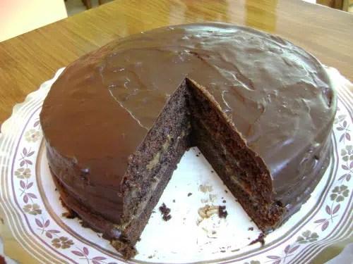 Bizcocho de chocolate al microondas.