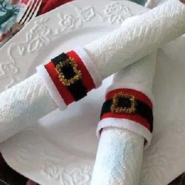 El cinturón de Papa Noel, un original servilletero
