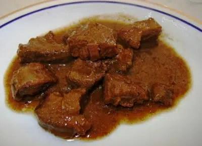 Guiso de carne de jabalí