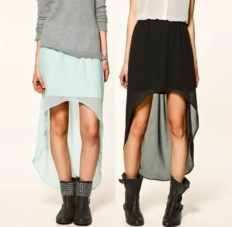 La moda de las faldas