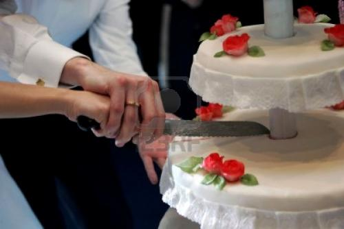 La tarta nupcial, estrella del banquete