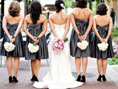 Damas de honor, un apoyo para la novia