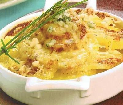 Patatas con queso gratinadas
