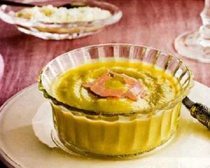 Puré de verduras con jamón cocido