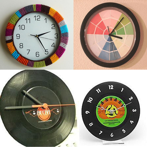 Reciclar un reloj de pared deteriorado