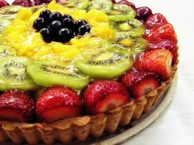Tarta de Frutas en el microondas