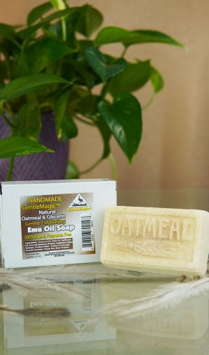 GentleMagic™ Emu Oil & Oatmeal Soap 3oz Bar