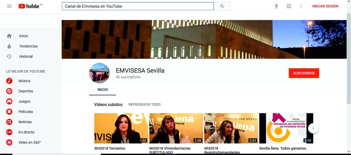 Suscríbete al canal de Emvisesa en YouTube y asiste a los sorteos de viviendas en directo