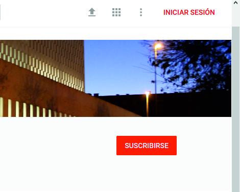 """Botón """"SUSCRIBIRSE"""" del Canal de Emvisesa en YouTube."""
