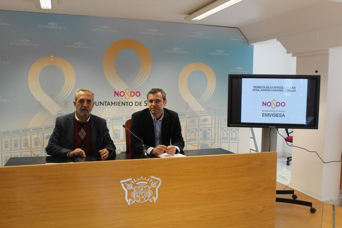 Aprobada la permuta de Ramón Carande por la que Emvisesa obtiene 3,5 millones de euros, 63 viviendas terminadas, un solar para construir 135 viviendas protegidas y 3 locales comerciales.