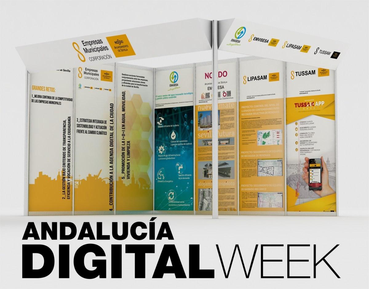 Emvisesa estará presente en la Andalucía Digital Week, que será inaugurada el lunes 12 de marzo en FIBES por el Rey Felipe VI