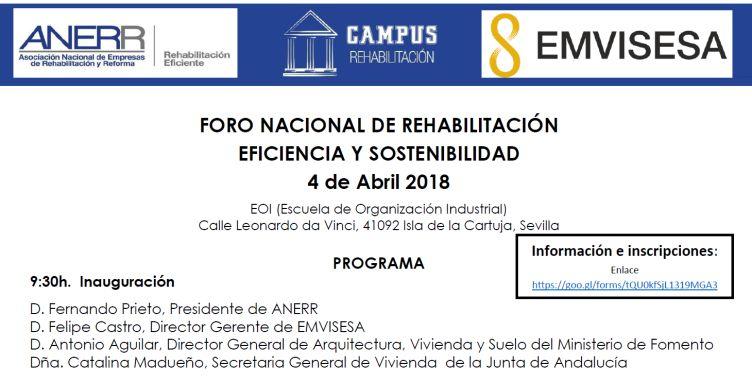 Foro Nacional Rehabilitación.