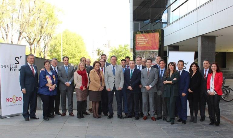 Sevilla Futura se constituye con 16 compañías de primer nivel y 5 instituciones públicas, marcando el camino para el nuevo centro tecnológico de las Naves de Renfe