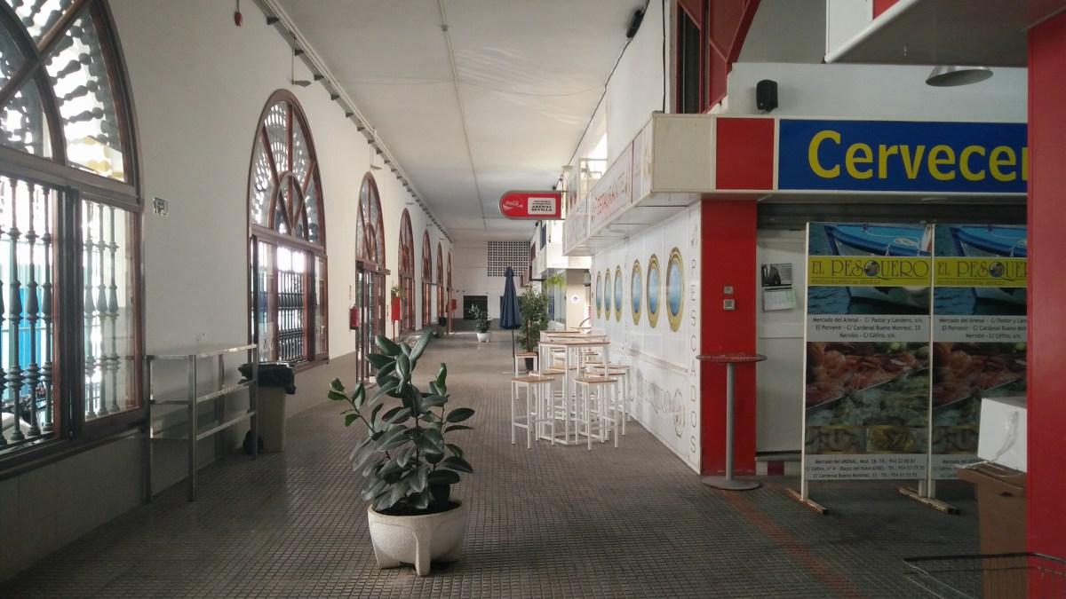El Ayuntamiento de Sevilla llevará a cabo trabajos para eliminar las filtraciones en el mercado de El Arenal con proyecto de Emvisesa y un presupuesto de más de 124.000 euros
