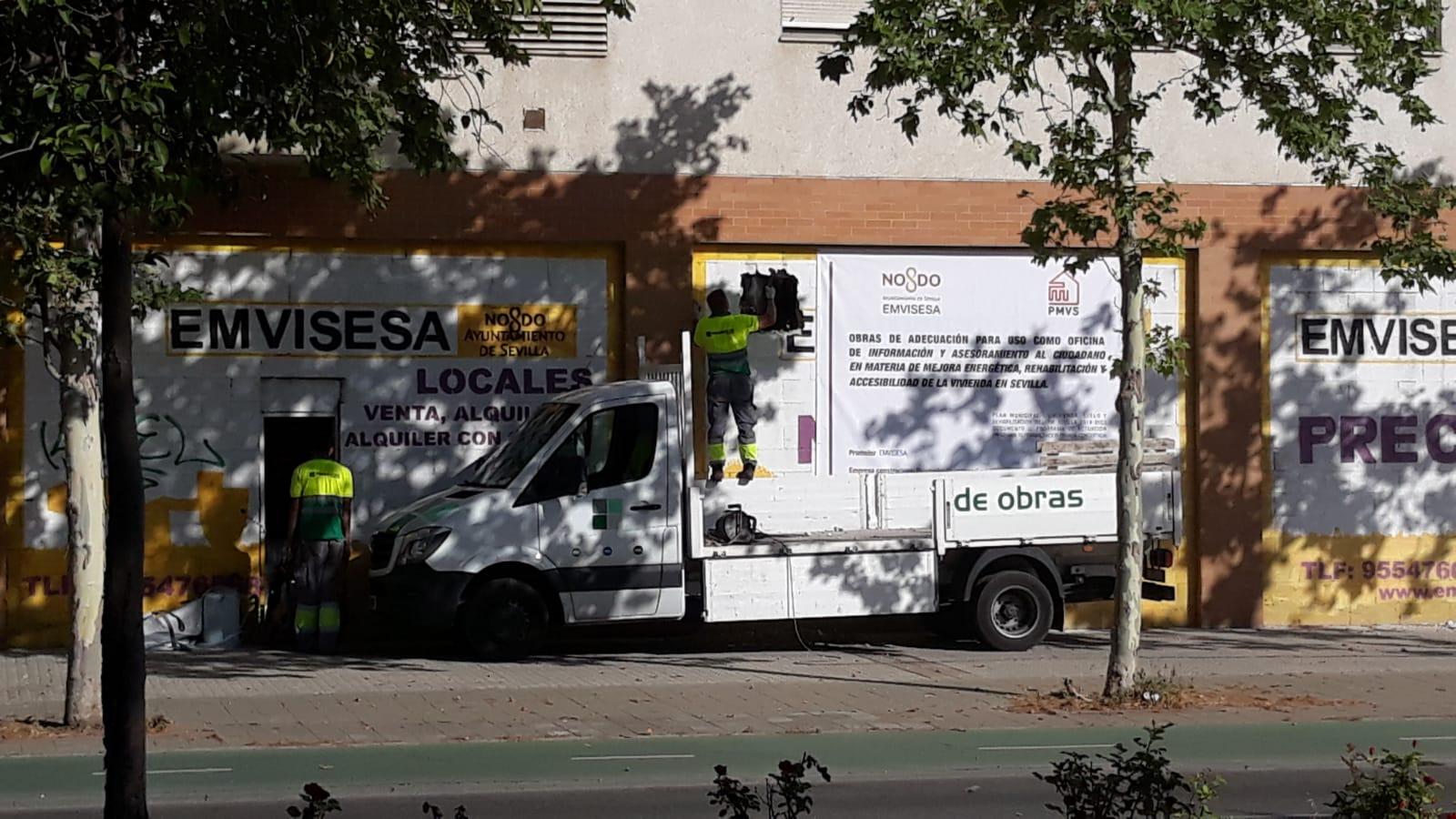 """Comienzan las obras de adecuación de la nueva """"Oficina de información y asesoramiento al ciudadano en materia de mejora energética, rehabilitación y accesibilidad de la vivienda en Sevilla"""""""