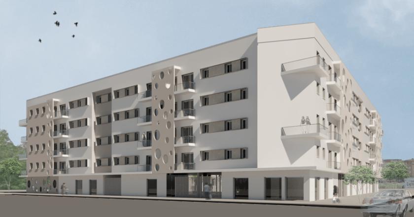 Proyección 3D de una de las fachadas de Cisneo Alto.