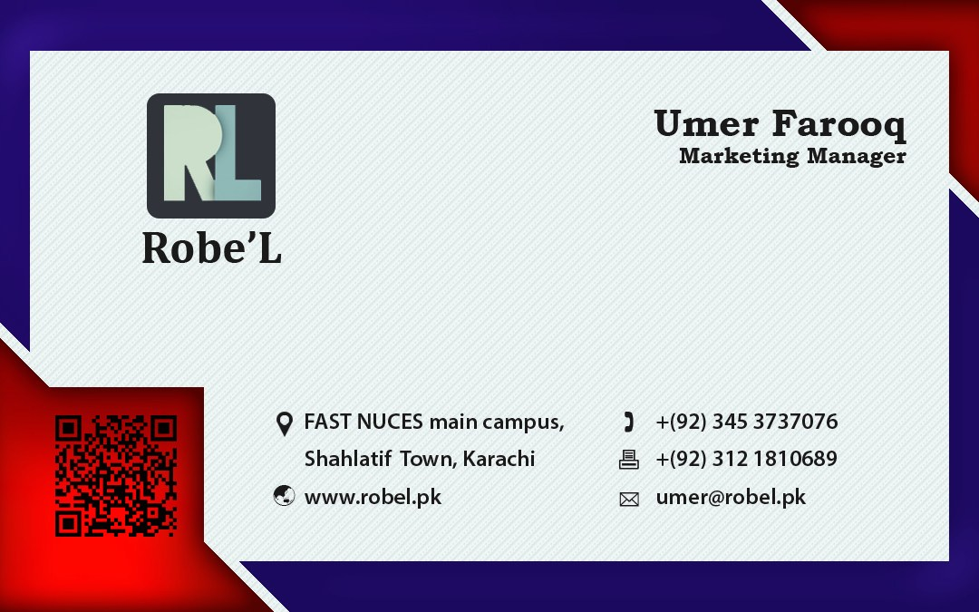 Executive Business Card with Barcode