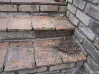 アプローチ階段の補修