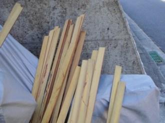 タタジュバの縦挽き