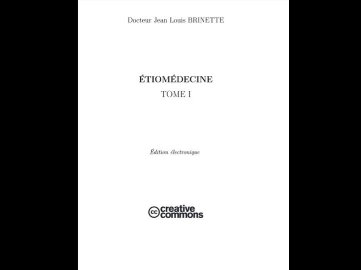 Étiomédecine par le Dr Brinette