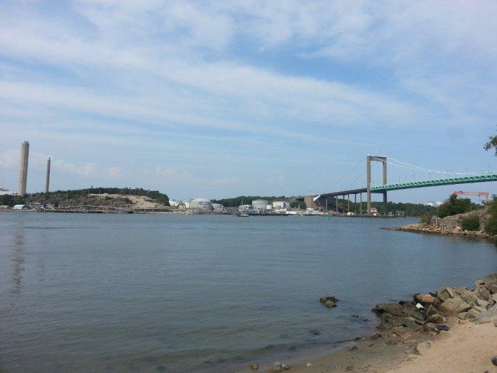 Paysage industriel pont Göteborg