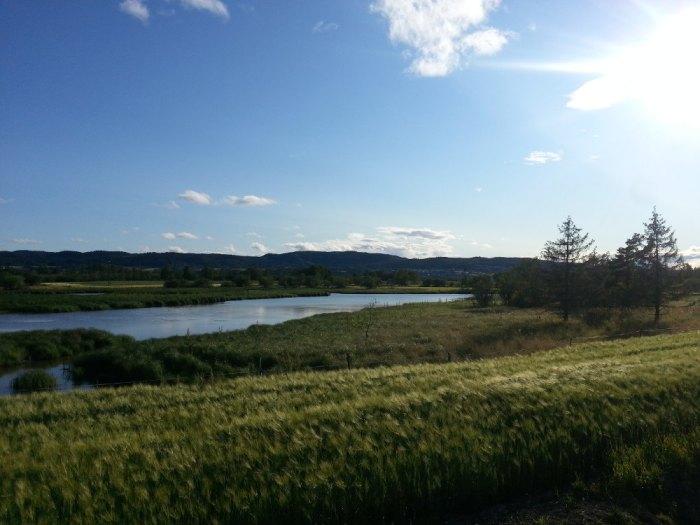 Paysage norvégien, entre Lillestrøm et Aurskog