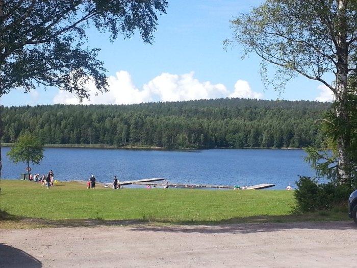 Fagerås baignade lac Suède