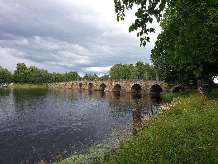Pont de pierre le plus long de Scandinavie Karlstad