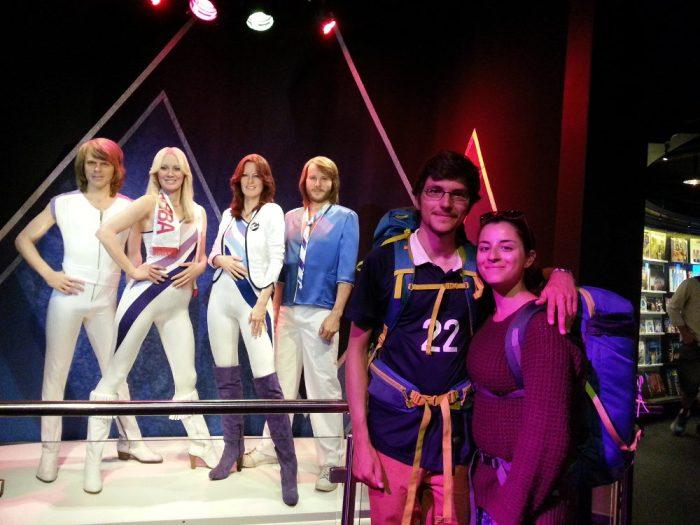 Avec le groupe ABBA