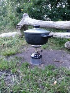 Réchaud casserole voyage