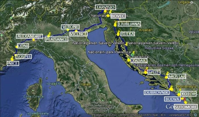Itinéraire voyage à vélo Europe de l'Est Balkans