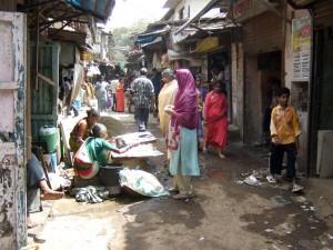 Bidonville à Bombay