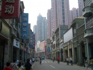 Dans les rues de Canton-Guangzhou